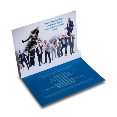 Grußkarte für Weihnachten - Kreative Drucksachen dienen auch als Beratungsunterstützung und Produkterklärung