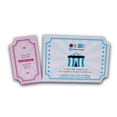 Einladung mit Ticket zum Abreißen - Lindner steht für Beratung - Kreation - Veredelung - Druck - Konfektionierung