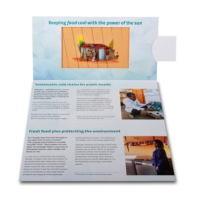 6-seitige Lamellenkarte - Lindner steht für Beratung - Kreation - Veredelung - Druck - Konfektionierung