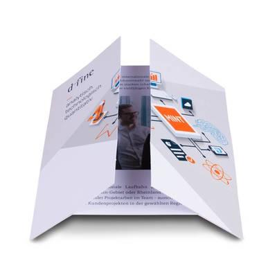 Magic-Flyer quadratisch - Lindner steht für Beratung - Kreation - Veredelung - Druck - Konfektionierung