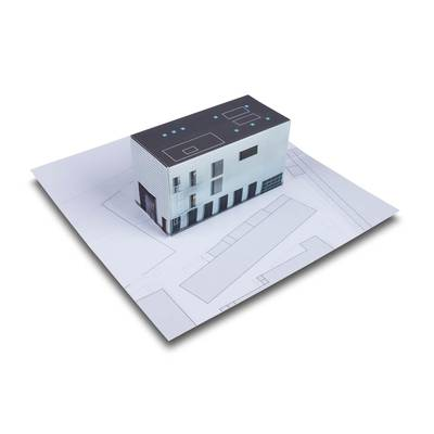Immobilienobjekt / Gebäude präsentieren - Lindner steht für Beratung - Kreation - Veredelung - Druck - Konfektionierung