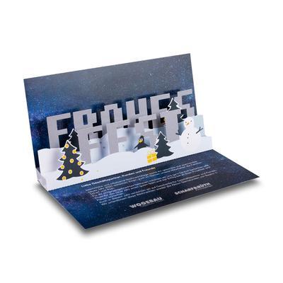 3D Pop-up Karte - Lindner steht für Beratung - Kreation - Veredelung - Druck - Konfektionierung