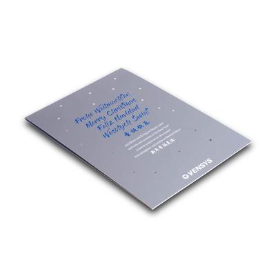 Weihnachtskarte mit Heißfolie - Lindner steht für Beratung - Kreation - Veredelung - Druck - Konfektionierung