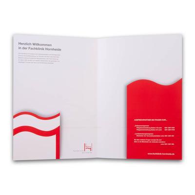Präsentationsmappe für Kliniken - Kreative Drucksachen - prägnant, wirksam, emotional