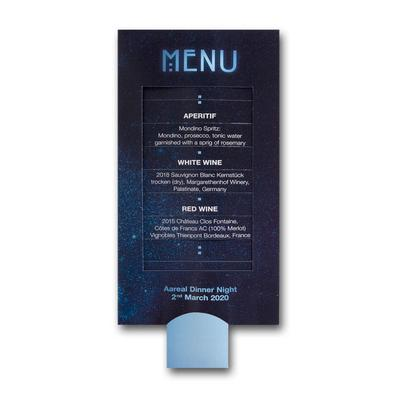 Lamellenkarte DIN lang - Kreative Drucksachen - prägnant, wirksam, emotional