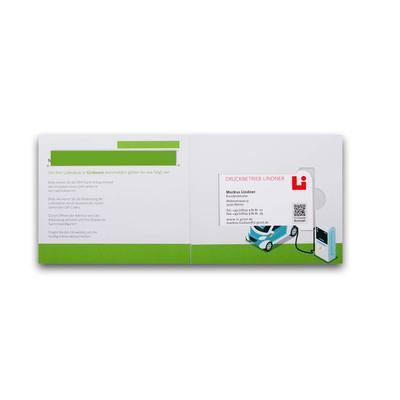 Klappkarte für Kreditkarten