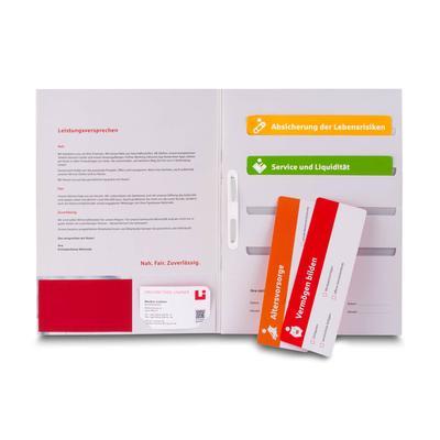 Bankmappe mit Einsteckschlitzen - Kreative Drucksachen - prägnant, wirksam, emotional