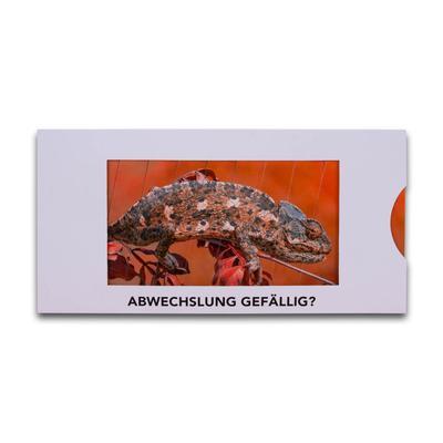 Bildwechselkarte mit passendem Umschlag - Lindner steht für Beratung - Kreation - Veredelung - Druck - Konfektionierung