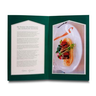 Speisekartenmappe mit Passepartout - Kreative Drucksachen - prägnant, wirksam, emotional