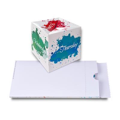 Springwürfel als Mailing mit Aufreißverpackung  - Lindner steht für Beratung - Kreation - Veredelung - Druck - Konfektionierung
