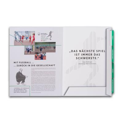 Projektmappe mit 5-fach Register  - Kreative Drucksachen - prägnant, wirksam, emotional