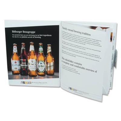 Verkaufsmappe mit Ordnungssystem - Kreative Drucksachen - prägnant, wirksam, emotional