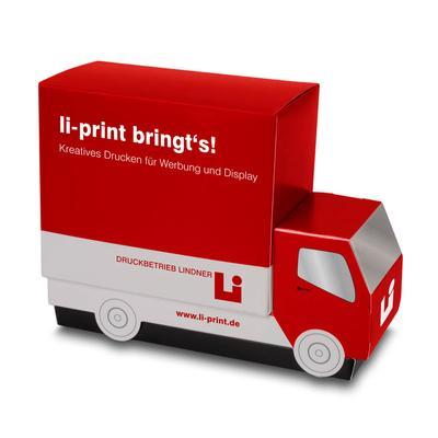 3D Musterbox für Musterkarten - Kreative Drucksachen dienen auch als Beratungsunterstützung und Produkterklärung