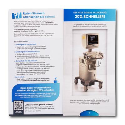 Lamellenkarte - Kreative Drucksachen dienen auch als Beratungsunterstützung und Produkterklärung