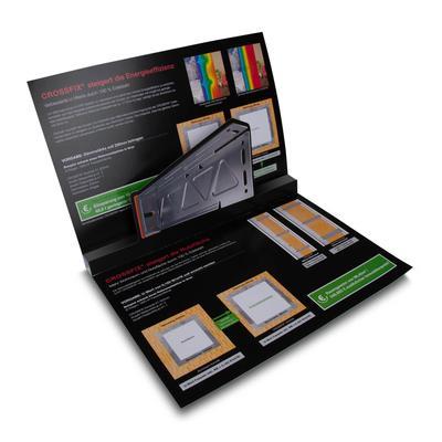 3D Pop-up Karte DIN A4 quer mit einer Ebene - Kreative Drucksachen dienen auch als Beratungsunterstützung und Produkterklärung