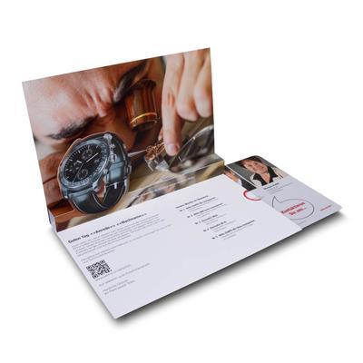 Produktpräsentation mit QR-Code - Kreative Drucksachen dienen auch als Beratungsunterstützung und Produkterklärung
