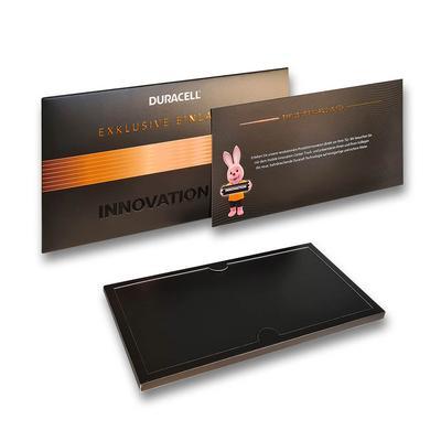 Schiebeschachtel mit Innenhohlwand - Kreatives Drucken bei Lindner: 3D Pop-ups, Effektkarten, Showboxen und Aufsteller