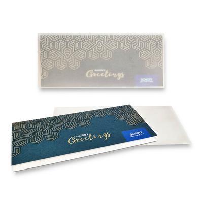 Weihnachtskarte 2-lagig - Kreative Drucksachen dienen auch als Beratungsunterstützung und Produkterklärung