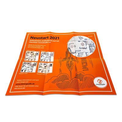 Folder mit Banderole und Umschlag - Kreative Drucksachen dienen auch als Beratungsunterstützung und Produkterklärung