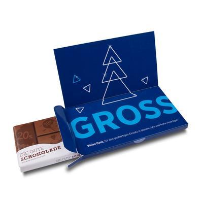 Faltschachtel für Schokolade