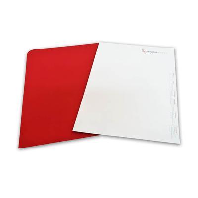 Briefbogen mit farbiger Rückseite