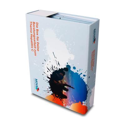 Fächerbox zur Patienteninformation - Druckerei Lindner steht für: Ordner drucken, Ringordner drucken, Ringbücher drucken, Firmenordner drucken