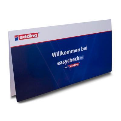 Klappkarte für Ausweise - Kreative Drucksachen dienen auch als Beratungsunterstützung und Produkterklärung