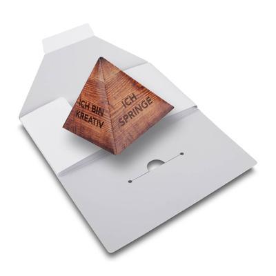 Mailing mit Springpyramide - Kreative Drucksachen dienen auch als Beratungsunterstützung und Produkterklärung