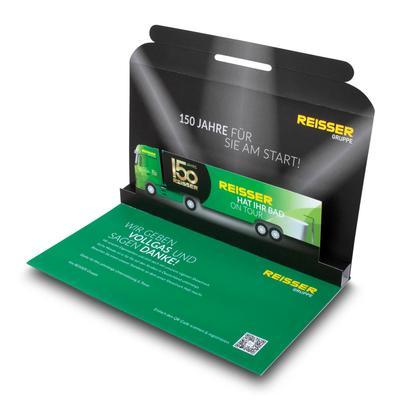 Jubiläums-Mailing - Kreative Drucksachen dienen auch als Beratungsunterstützung und Produkterklärung