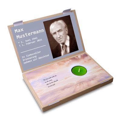 Teelichtbox - Motiv Trauer - Kreative Drucksachen dienen auch als Beratungsunterstützung und Produkterklärung