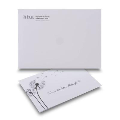 Trauerkarte mit Umschlag - Originelle Drucksachen mit Garantie für Aufmerksamkeit