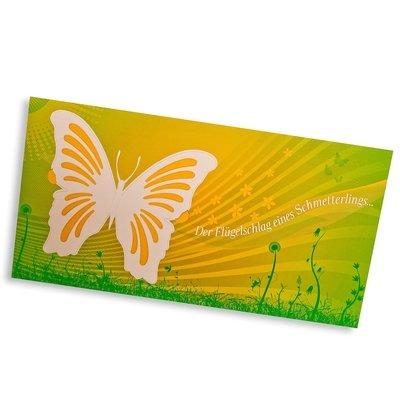 Design-Großpostkarte - Karte mit Türchen (Schmetterling) - Kreative Drucksachen - prägnant, wirksam, emotional
