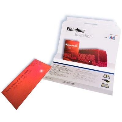 3D Mailing Großbrief - Messeeinladung - Kreative Drucksachen - prägnant, wirksam, emotional