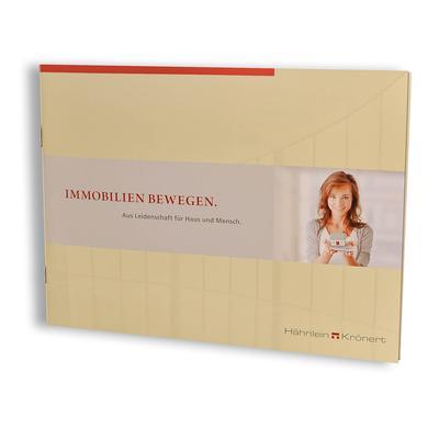 Immobilien Exposé-Broschüre mit Tasche - Kreative Drucksachen - prägnant, wirksam, emotional