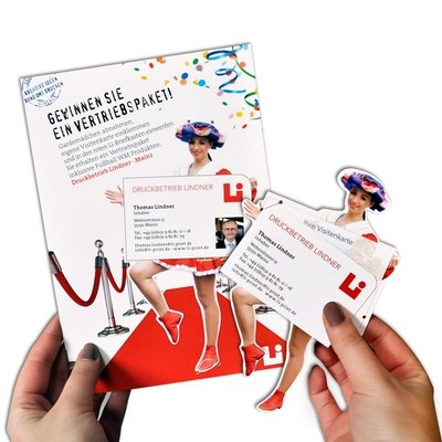 Messekarte mit Gardemädchen Pop-up