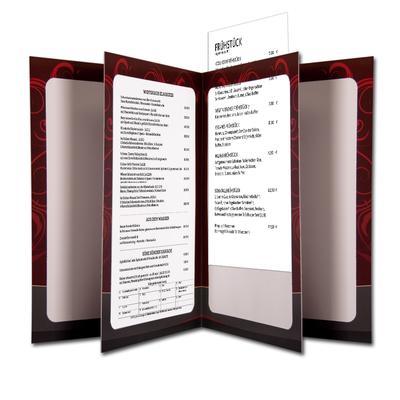 Speisekartenmappe - Kreative Drucksachen - prägnant, wirksam, emotional