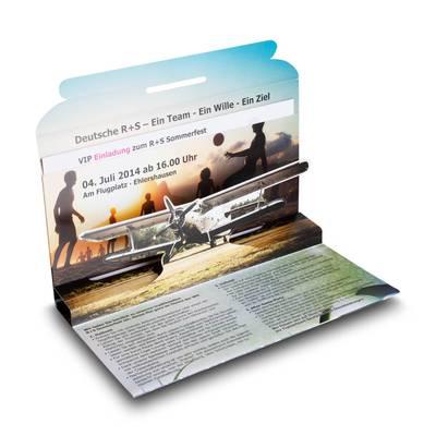 3D Mailing DIN lang mit Einsteckfach - Einladungskarte  - Lindner steht für Beratung - Kreation - Veredelung - Druck - Konfektionierung