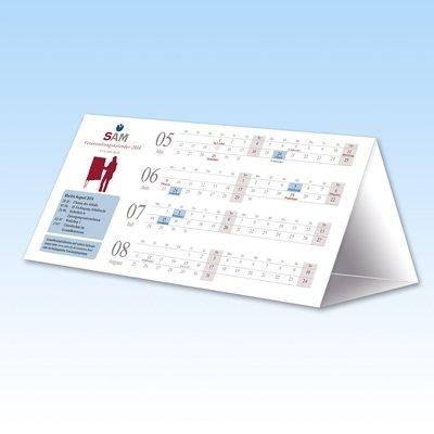 Tischkalender als Mailing - Aufsteller Prisma - Kreative Drucksachen - prägnant, wirksam, emotional