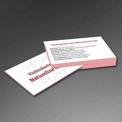 Visitenkarte aus Craft-Karton - Kreative Drucksachen - prägnant, wirksam, emotional