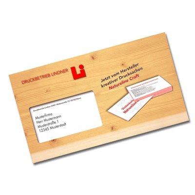 Kreditkarten-Mailing mit Einsteckschlitzen