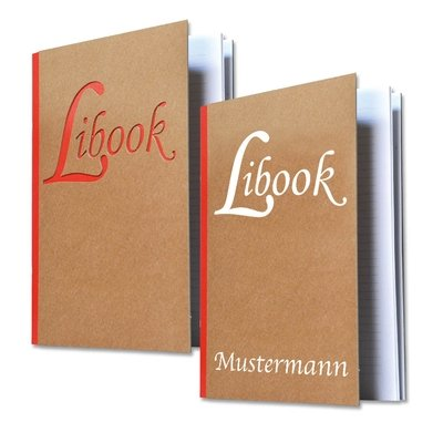 Libook - Notizbuch aus Braunpappe - Lindner bietet neben dem Standard auch ausgefallene Sonderformate an