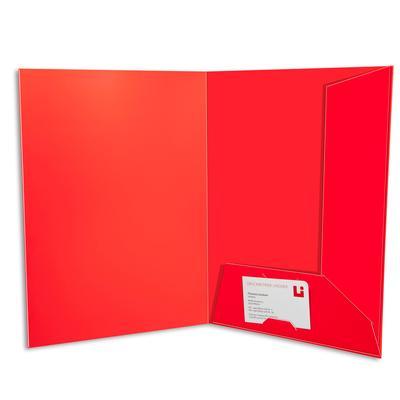 Rote Laschenmappen