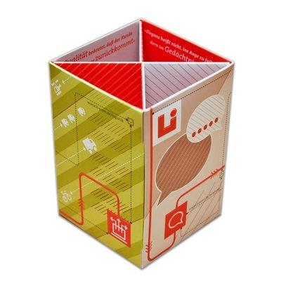 Stiftebox als multifunktionales Druckprodukt - Kreative Drucksachen dienen auch als Beratungsunterstützung und Produkterklärung