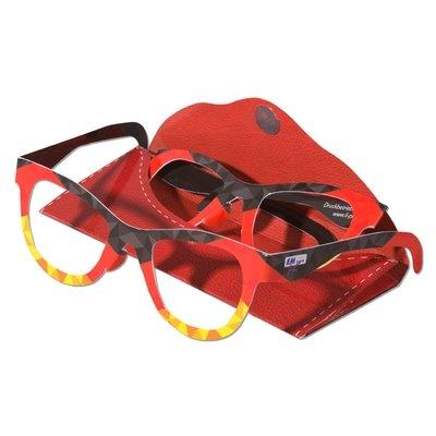 Brillenetui mit Karton Brille