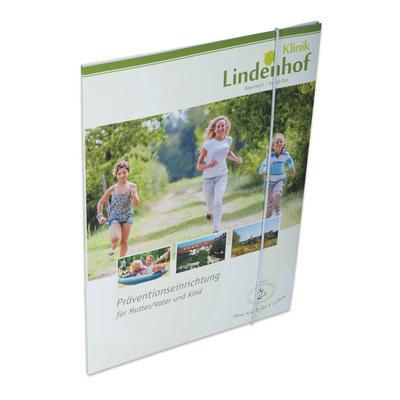 Lindenhof Mappe mit weißen Gummizug