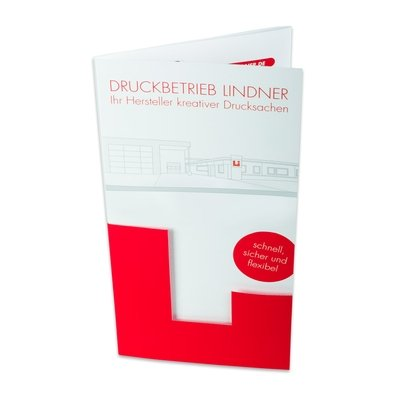 Falzprospekt 8 Seiten mit Formstanzung - Individuelle Kreativprodukte beim Hersteller drucken lassen