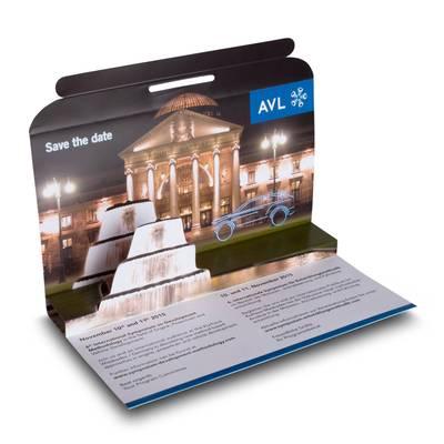 3D Mailing DIN lang - Messeeinladung - Lindner steht für Beratung - Kreation - Veredelung - Druck - Konfektionierung