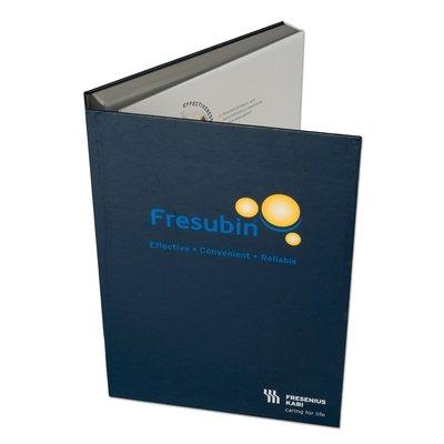 Einschubbox mit zwei Klappseiten - Firmenordner, Ringbücher, Ringmappen individuell bedrucken lassen