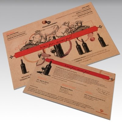 Stabile Einladungskarte