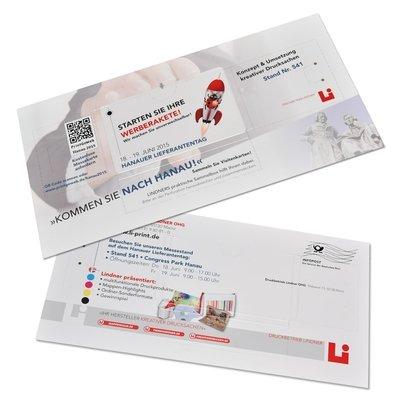 Karte mit Türchen - Sammelbox Visitenkarten - Kreative Drucksachen - prägnant, wirksam, emotional